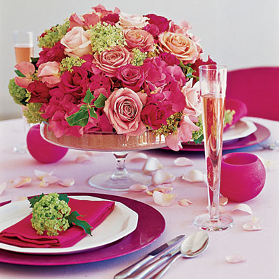 Antique Weddings on Vintage Pink Wedding Flower Centerpieces   A Wedding Zone